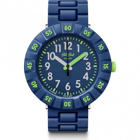 Flik Flak Solo Dark Blue watch