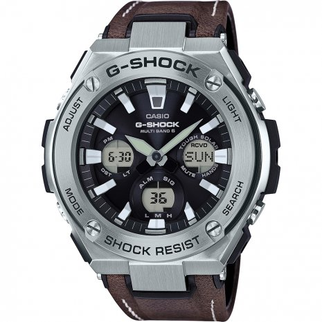 G-Shock G-Steel Tough Leather watch