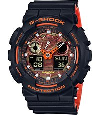 GA-100BR-1A Ana-Digi - Bright Orange 51.2mm