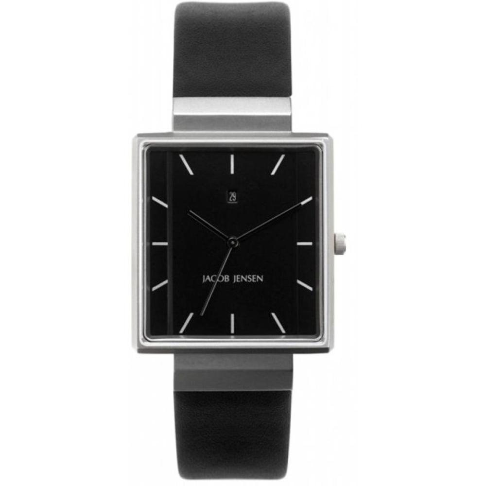 d57d37296 Jacob Jensen JJ885 885 Dimension Rectangular watch. Black Gents Design Watch